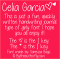 Illustration of font Celia Garcia