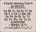 Illustration of font EarthMomma