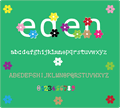 Illustration of font eden