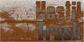 Illustration of font Hostil Trash