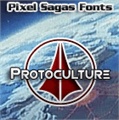Illustration of font Protoculture