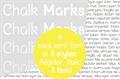 Illustration of font Chalk Marks