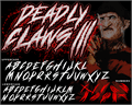 Illustration of font DEADLY CLAWS[