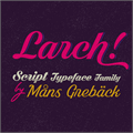 Illustration of font Black Larch PERSONAL USE ONLY