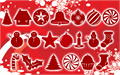 Illustration of font Christmas Shapes