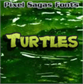 Illustration of font Turtles