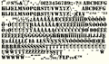 Illustration of font SYENCILED PERSONAL USE