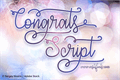 Illustration of font Congrats Script