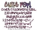 Illustration of font Cutie Pop