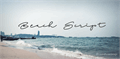 Illustration of font Beach Script