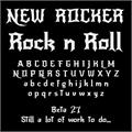 Illustration of font NewRocker