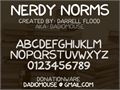 Illustration of font Nerdy Norms