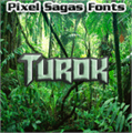 Illustration of font Turok