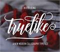 Illustration of font Truelike