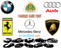 Illustration of font Famous Cars
