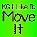 Illustration of font KG I Like To Move It