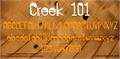 Illustration of font Creek 101