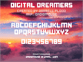 Illustration of font Digital Dreamers