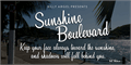 Illustration of font Sunshine Boulevard Personal Use