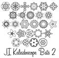 Illustration of font JI Kaleidoscope Bats 2