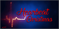Illustration of font Heartbeat in Christmas