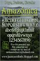 Illustration of font Amazónica