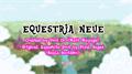 Illustration of font Equestria Neue