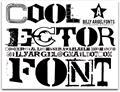 Illustration of font COOLECTOR