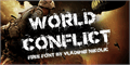 Illustration of font World Conflict