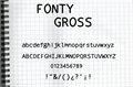 Illustration of font fonty gross