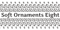 Illustration of font Soft Ornaments Eight