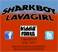 Illustration of font SHARKBOY & lavagirl