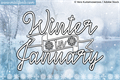 Illustration of font Winter in January