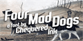 Illustration of font Four Mad Dogs