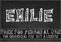 Illustration of font Emilie