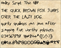Illustration of font HalleyScriptThinNBP