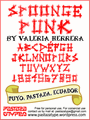 Illustration of font Spoonge Punk