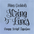 Illustration of font String Lines PERSONAL USE ONLY