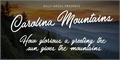 Illustration of font Carolina Mountains Personal Use
