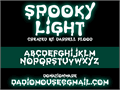 Illustration of font Spooky Light