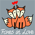 Illustration of font Foxes In Love