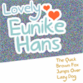 Illustration of font Lovely Eunike Hans