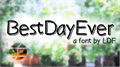Illustration of font BestDayEver