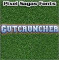 Illustration of font Gutcruncher