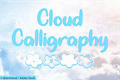 Illustration of font Cloud Calligraphy