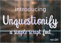 Illustration of font Unquestionify
