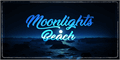Illustration of font Moonlights on the Beach