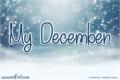 Illustration of font My December
