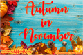 Illustration of font Autumn in November