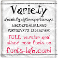 Illustration of font Variety_free-version